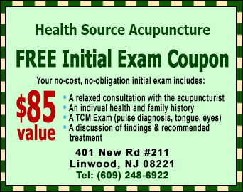 Linwood Acupuncture FREE Initial Exam Coupon